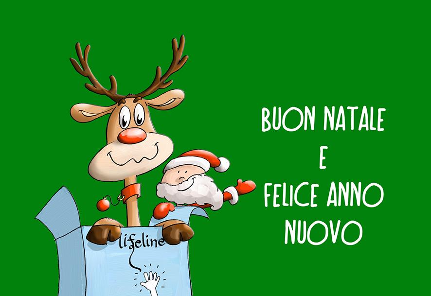 Lifeline Italia Onlus. Cartolina di natale proposta all'acquisto per finanziare le cure dei bambini con malattie comportanti il rischio vita di cui l'associazione si occupa