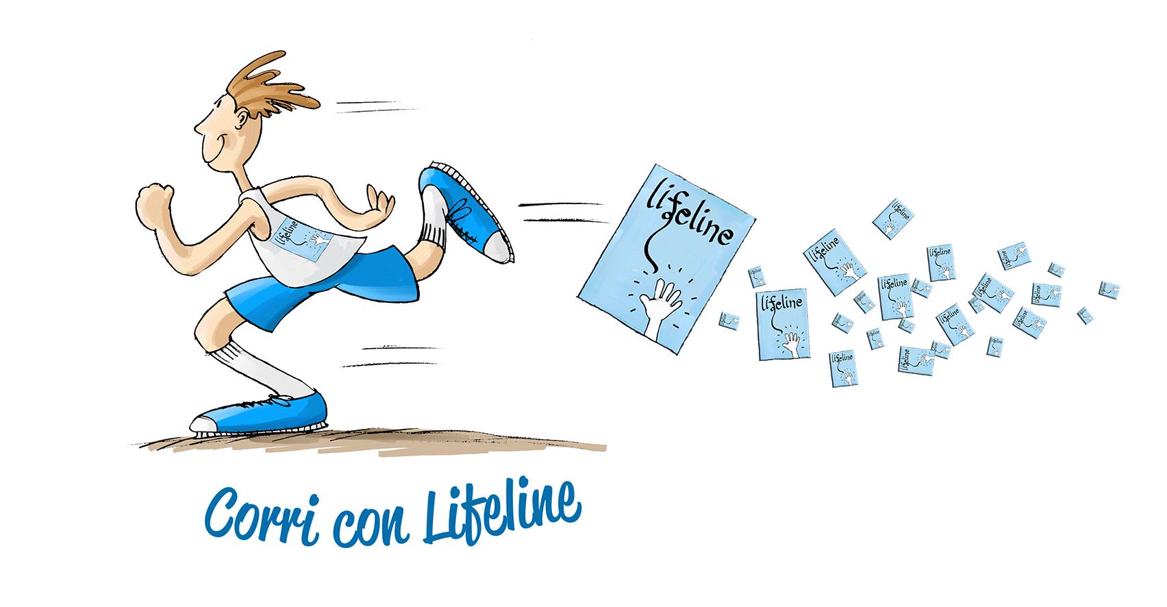 Lifeline Italia Onlus, maglietta per la maratona di Padova nel 2017